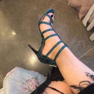Christian Siriano strappy high heels